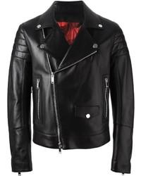 schwarze Leder Bikerjacke von Valentino