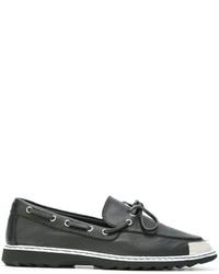 schwarze Leder Bootsschuhe von Giuseppe Zanotti Design