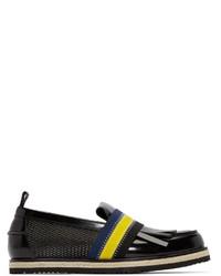 schwarze Leder Bootsschuhe von MSGM