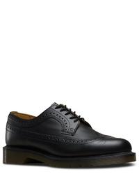 schwarze Leder Brogues von Dr. Martens