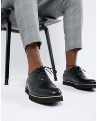 schwarze Leder Brogues von Truffle Collection