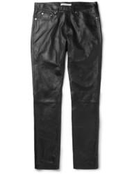schwarze Leder Chinohose von Givenchy