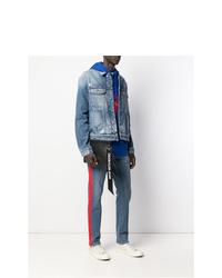 schwarze Leder Clutch Handtasche von Calvin Klein Jeans