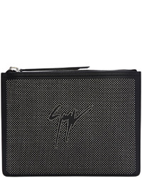 schwarze Leder Clutch Handtasche von Giuseppe Zanotti