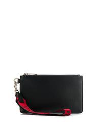 schwarze Leder Clutch Handtasche von Givenchy