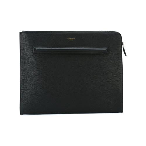34c21697c3e32 ... schwarze Leder Clutch Handtasche von Givenchy ...