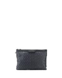 schwarze Leder Clutch Handtasche von Jimmy Choo
