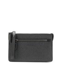 schwarze Leder Clutch Handtasche von Salvatore Ferragamo