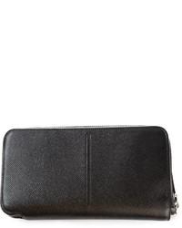 schwarze Leder Clutch Handtasche von Z Zegna