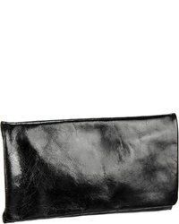 schwarze Leder Clutch von Abro