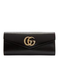 schwarze Leder Clutch von Gucci