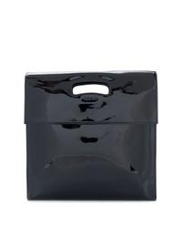 schwarze Leder Clutch von Helmut Lang