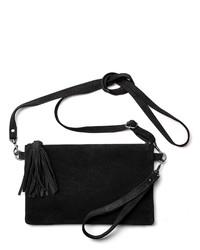 schwarze Leder Clutch von Lascana