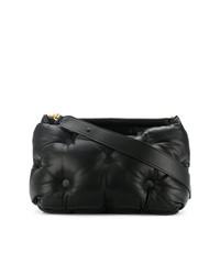 schwarze Leder Clutch von Maison Margiela