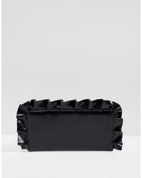 schwarze Leder Clutch von Monki