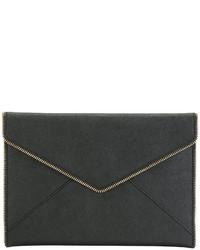 schwarze Leder Clutch von Rebecca Minkoff
