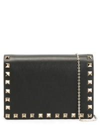 schwarze Leder Clutch von Valentino