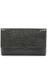 schwarze Leder Clutch von Vince