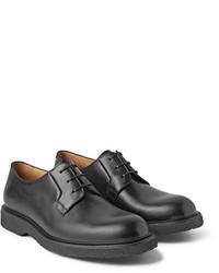schwarze Leder Derby Schuhe von A.P.C.