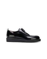 schwarze Leder Derby Schuhe von AMI Alexandre Mattiussi