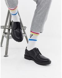 schwarze Leder Derby Schuhe von ASOS DESIGN