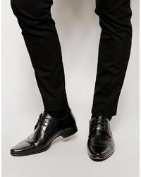 schwarze Leder Derby Schuhe von Asos