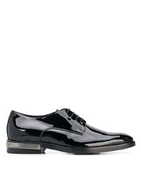 schwarze Leder Derby Schuhe von Balmain
