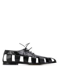 schwarze Leder Derby Schuhe von Bottega Veneta