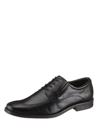 schwarze Leder Derby Schuhe von Bugatti