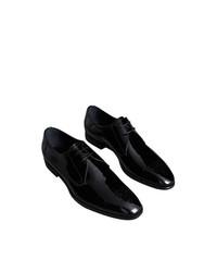 schwarze Leder Derby Schuhe von Burberry