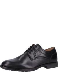 schwarze Leder Derby Schuhe von camel active