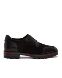 schwarze Leder Derby Schuhe von Christian Louboutin