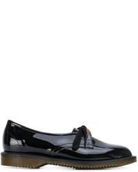 schwarze Leder Derby Schuhe von Comme des Garcons