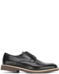schwarze Leder Derby Schuhe von Corneliani