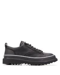 schwarze Leder Derby Schuhe von Diesel