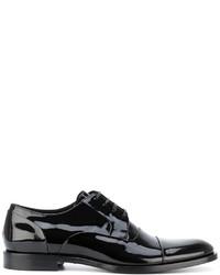 schwarze Leder Derby Schuhe von Dolce & Gabbana