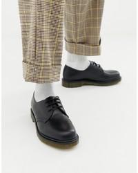 schwarze Leder Derby Schuhe von Dr. Martens