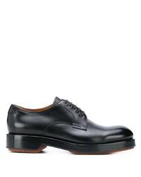 schwarze Leder Derby Schuhe von Ermenegildo Zegna
