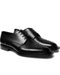 schwarze Leder Derby Schuhe von Fendi