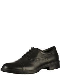 schwarze Leder Derby Schuhe von Geox