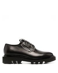 schwarze Leder Derby Schuhe von Givenchy