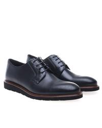 schwarze Leder Derby Schuhe von Greyder