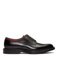 schwarze Leder Derby Schuhe von Gucci