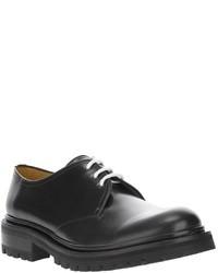 schwarze Leder Derby Schuhe von Kenzo