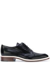 schwarze Leder Derby Schuhe von Lanvin
