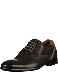 schwarze Leder Derby Schuhe von Lloyd
