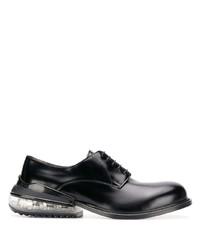 schwarze Leder Derby Schuhe von Maison Margiela