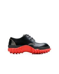 schwarze Leder Derby Schuhe von Marni