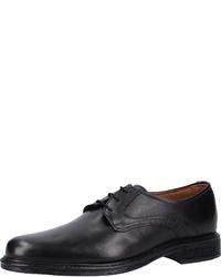 schwarze Leder Derby Schuhe von Mercedes