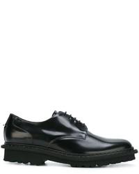 schwarze Leder Derby Schuhe von Neil Barrett
